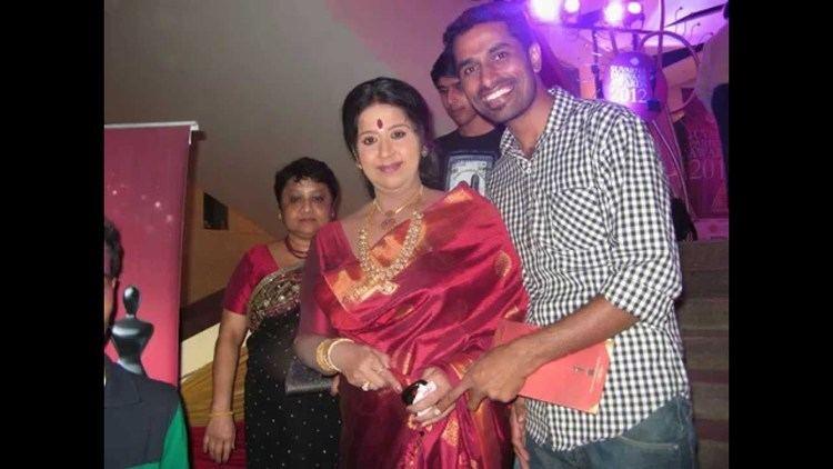 Hema Chaudhary Shivarudra Naik with Hema choudhary actress at suvarna parivaar