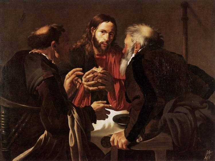 Hendrick ter Brugghen Supper at Emmaus Hendrick Terbrugghen WikiArtorg