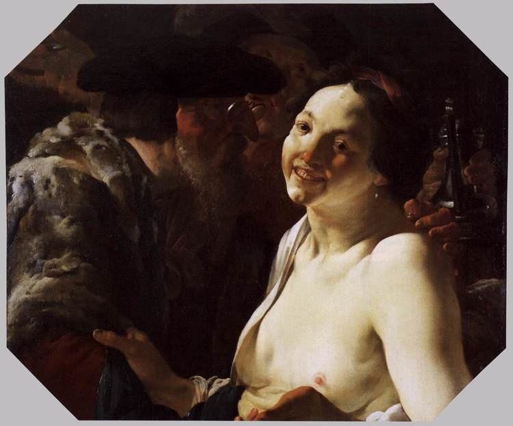 Hendrick ter Brugghen Unequal Couple Hendrick Terbrugghen WikiArtorg