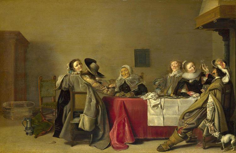 Hendrik Gerritsz Pot Merry Company At Table Painting by Hendrik Gerritsz Pot