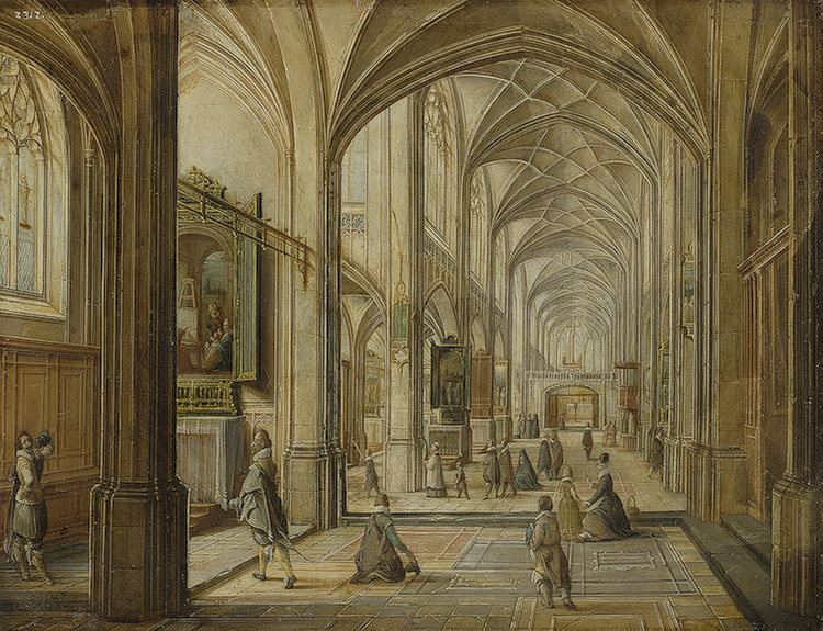 Hendrik van Steenwijk II FileHendrik van Steenwijk II Interior of a Gothic Church2jpg