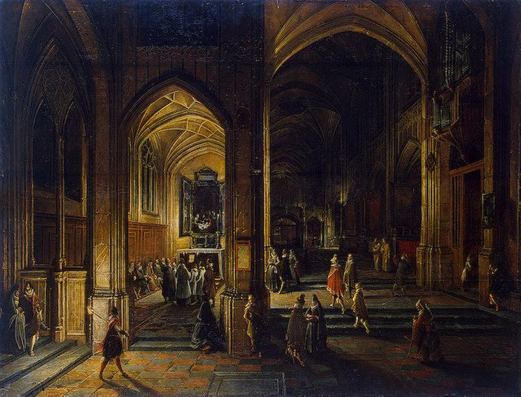Hendrik van Steenwijk II FileHendrik van Steenwijk II Interior of a Gothic Churchjpg