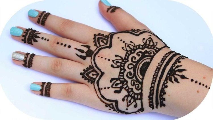 Henna Henna Tutorial 3 Ganze Hand Sanny Kaur YouTube