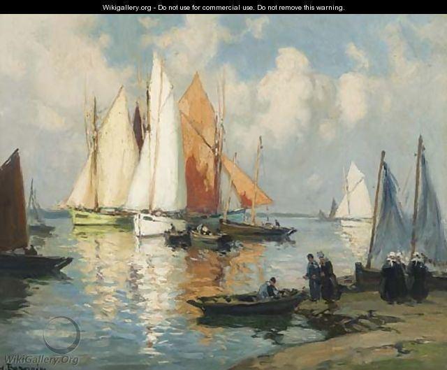 Henri Alphonse Barnoin A Brittany harbour Henri Alphonse Barnoin WikiGallery