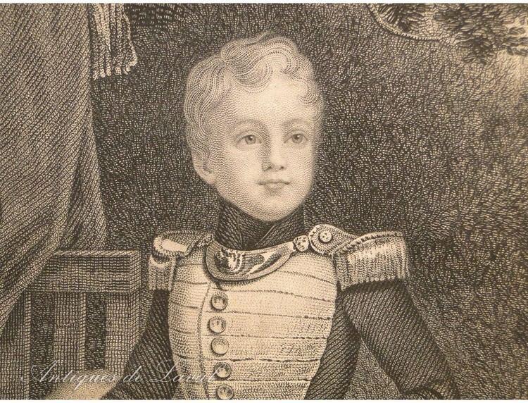 Henri, Count of Chambord Gravure Portrait Duc de Bordeaux Henri d39Artois Comte