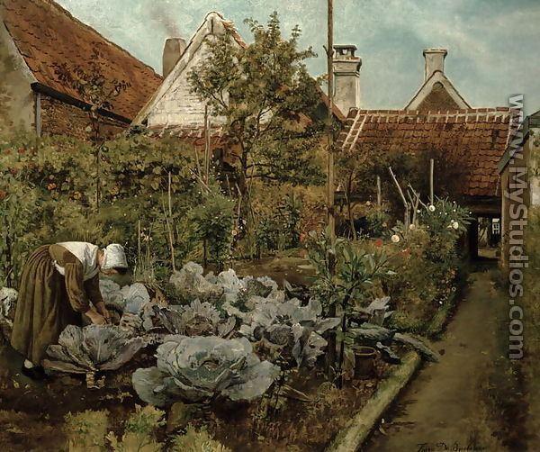 Henri de Braekeleer A Flemish Garden by Henri de Braekeleer MyStudioscom