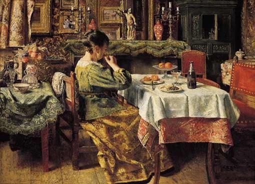 Henri de Braekeleer The Meal KMSKA