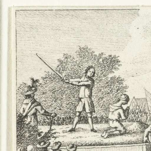 Henri de Fleury de Coulan Onthoofding van Henri de Fleury de Coulan Buat in Den Haag 1666