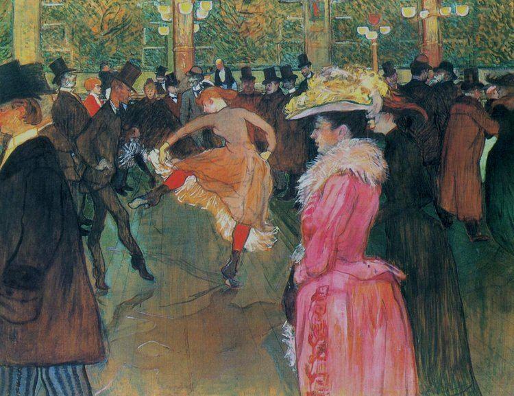 Henri de Toulouse-Lautrec At the Moulin Rouge The Dance Henri de ToulouseLautrec