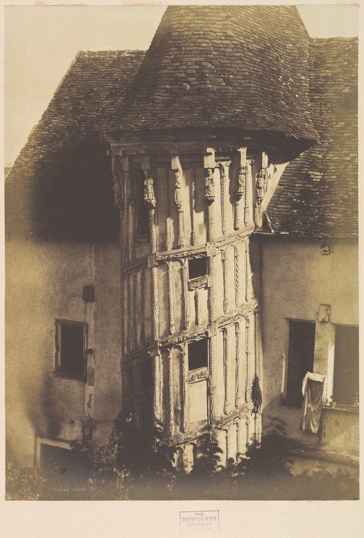 Henri Le Secq HenriJeanLouis Le Secq Wooden Staircase at Chartres