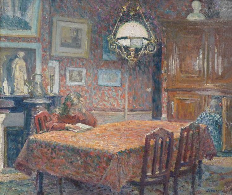 Henri Lebasque FileHenri LebasqueSous la lampeMuse des beauxarts de