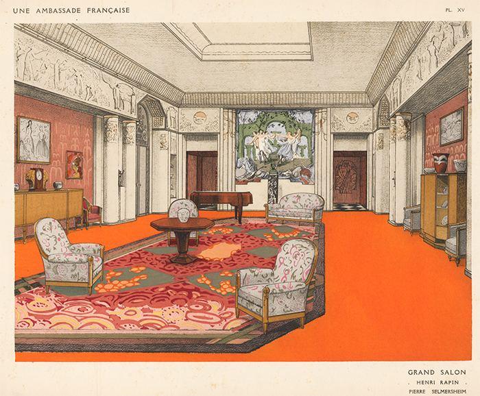Henri Rapin Grand Salon by Henri Rapin amp Pierre Selmersheim Une Ambassade