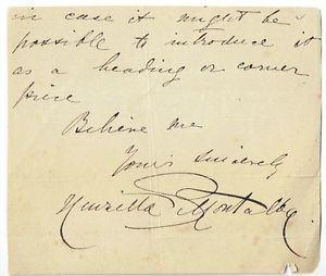 Henrietta Montalba Henrietta Montalba British Sculptor Clipped Autograph signature