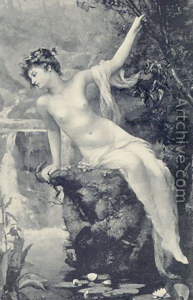 Henrietta Rae The Nymph of the Stream reproduction by Henrietta Rae Mrs