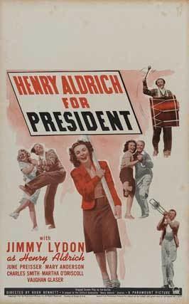 Henry Aldrich for President Henry Aldrich For President Movie Posters From Movie Poster Shop