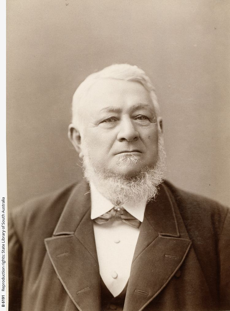 Henry Ayers Sir Henry Ayers Photograph State Library of South Australia