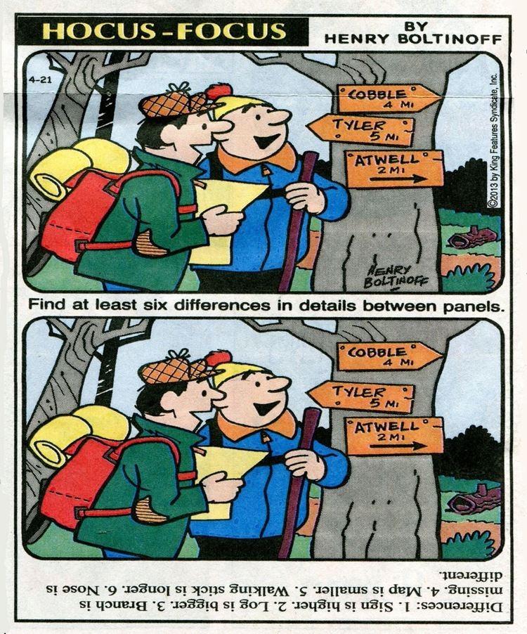 Hocus focus comic strip