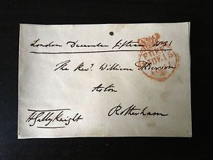 Henry Gally Knight HENRY GALLY KNIGHT MP WRITER TRAVELLER SIGNED ENVELOPE FRONT