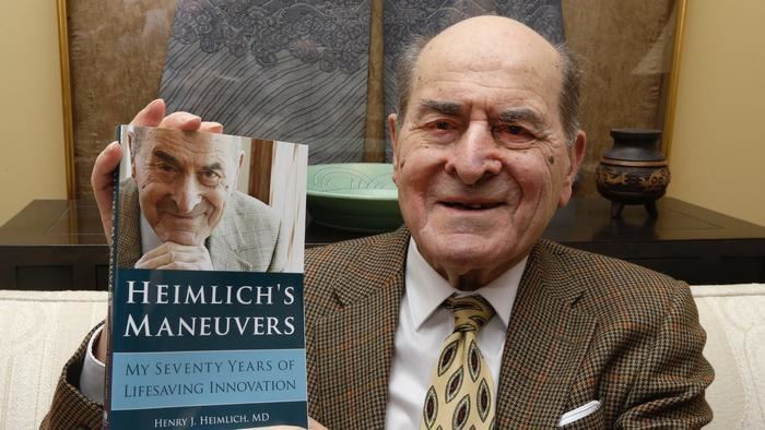Henry Heimlich 96YearOld Dr Henry Heimlich Saved a Choking Woman With His Own