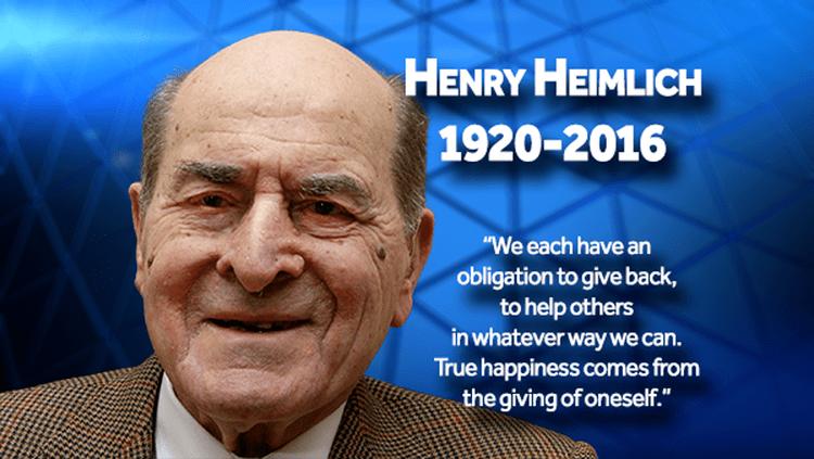 Henry Heimlich Dr Henry Heimlich credited with creating Heimlich maneuver dies