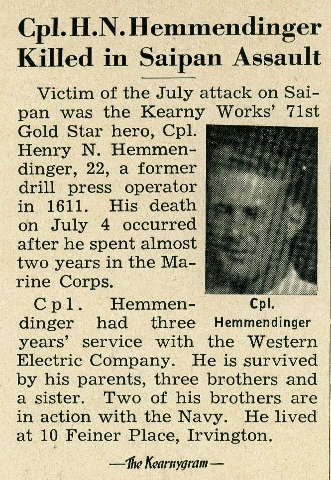 Henry Hemmendinger FileHenry Hemmendinger Newspaper Clipping 1944 8043335552jpg