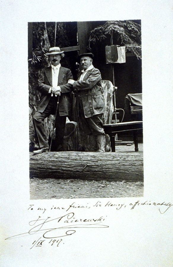 Henry Heyman Ignacy Jan Paderewski and Sir Henry Heyman Anonymous FAMSF