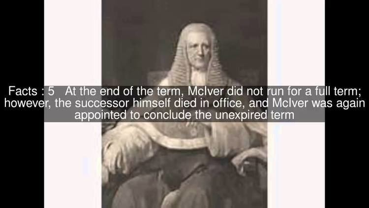 Henry McIver (chief justice) Henry McIver chief justice Top 11 Facts YouTube