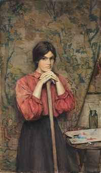 Henry Meynell Rheam Henry Meynell Rheam 18591920 Study of a girl in the