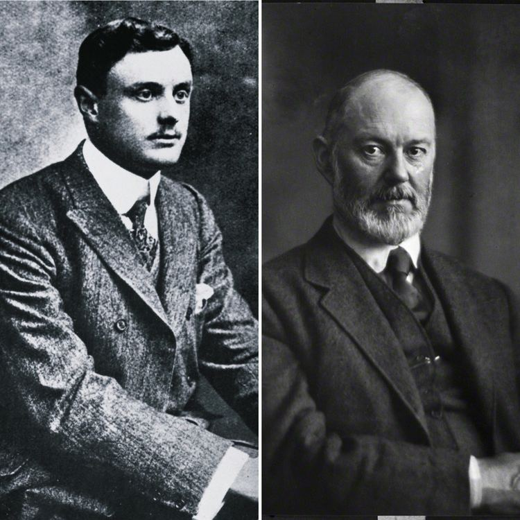 Henry Royce Charles Rolls left and Sir Henry Royce right founders of Rolls