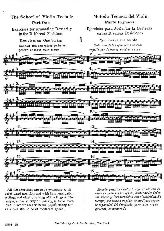 Henry Schradieck Schradieck H School of Violin Exercises in Promoting