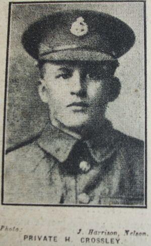 Herbert Crossley Burnley Roll of Honour Private Herbert Crossley