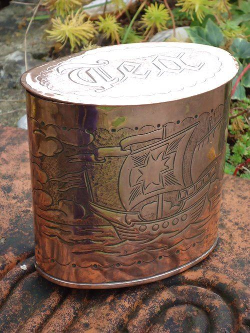 Herbert Dyer Antiques Atlas Cornish School Tea Caddy Herbert Dyer