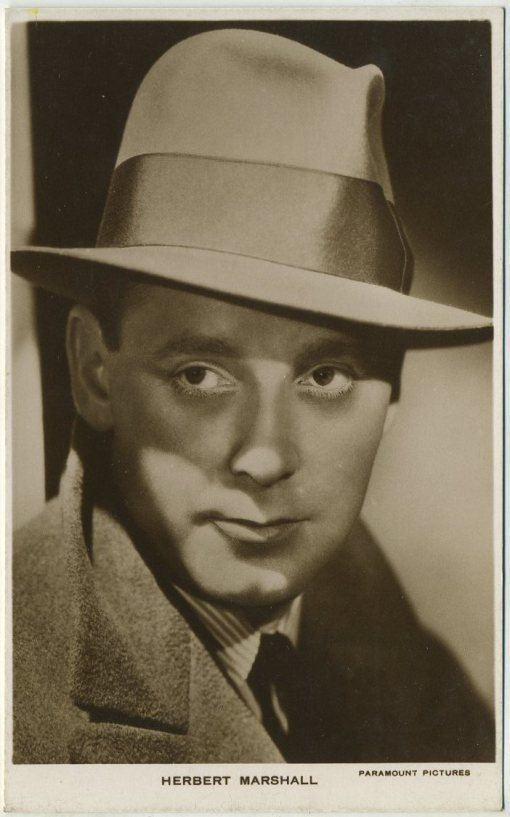 Herbert Marshall Herbert Marshall Biography Star of Trouble in Paradise and The
