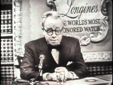 Herbert Morrison (announcer) LONGINES CHRONOSCOPE WITH HERBERT MORRISON YouTube