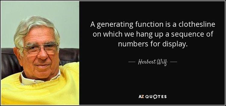 Herbert Wilf TOP 6 QUOTES BY HERBERT WILF AZ Quotes