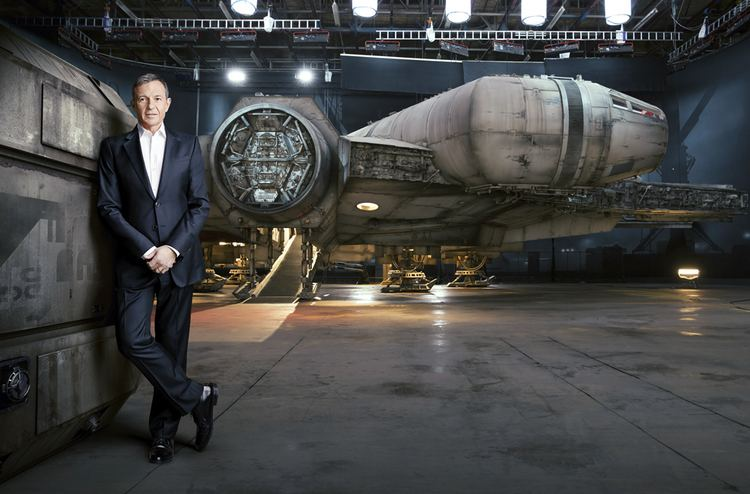 Here Comes Fortune movie scenes Photograph of Bob Iger CEO of Disney taken for Fortune in NY Scene with Millennium Falcon in Pinewoods Studio Buckinghamshire England is a composite