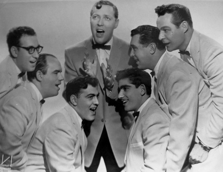 Here I Am, Here I Stay movie scenes Bill Haley and His Comets in 1956 Left to right Rudy Pompilli Billy Williamson Al Rex Johnny Grande Ralph Jones Franny Beecher Top Bill Haley