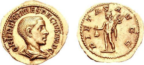 Herennius Etruscus Herennius Etruscus Roman Imperial Coins reference at WildWindscom
