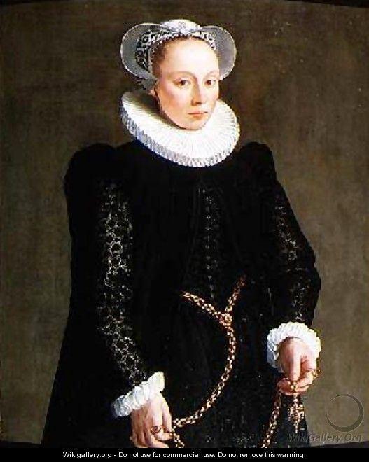 Herman van der Mast Portrait of a lady aged 24 1587 Herman van der Mast WikiGallery