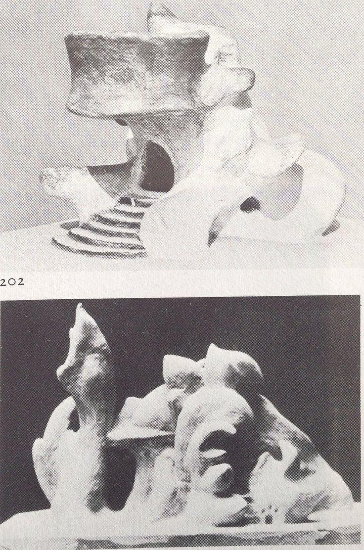 Hermann Finsterlin Plaster models by Hermann Finsterlin 192039s From