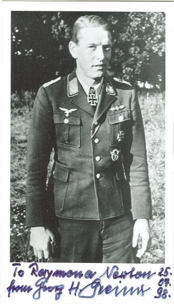 Hermann Greiner LW 30 NIGHTFIGHTER PILOT LT COLONEL HERMANN GREINER 51 KILLS