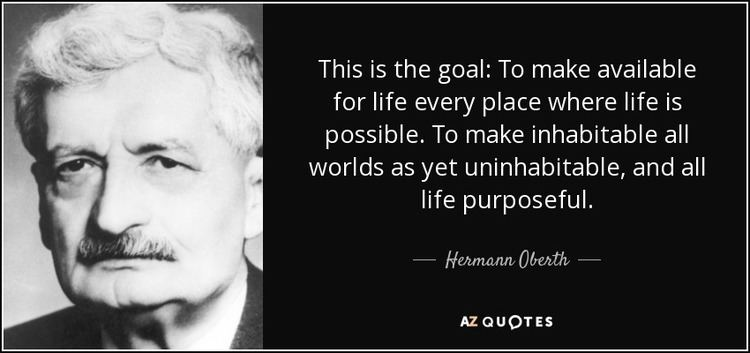 Hermann Oberth TOP 12 QUOTES BY HERMANN OBERTH AZ Quotes
