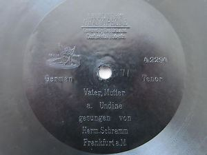Hermann Schramm 78rpm E BERLINER GRAMOPHONE 7 HERMANN SCHRAMM Tenor sings