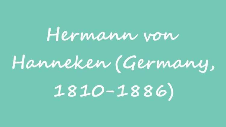 Hermann von Hanneken (chess player) OBM Chess Player Hermann von Hanneken Germany 18101886 YouTube