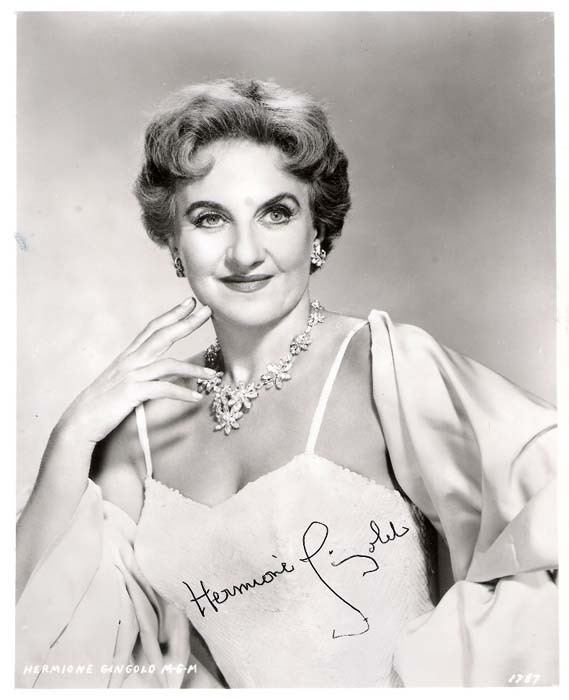 Hermione Gingold wwwBillCappellocom Bill39s Autographed Photo Archive