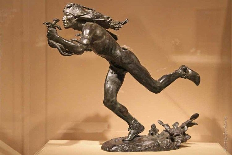 Hermon Atkins MacNeil Public Art in Chicago AIC American Art The Moqui Runner By