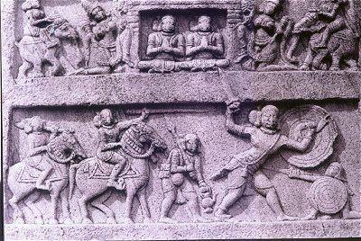 Hero stone Kamat Research Database Illustrated Memorial Stones