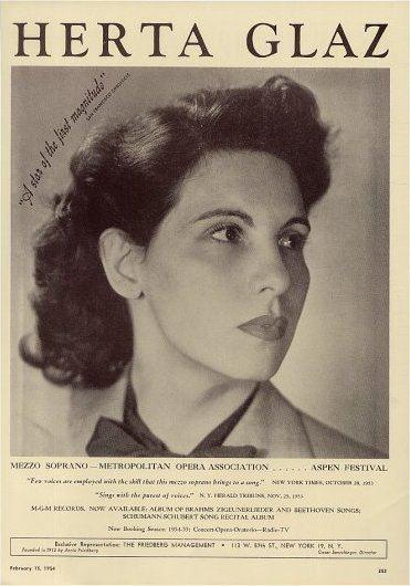 Herta Glaz Herta Glaz Contralto Short Biography
