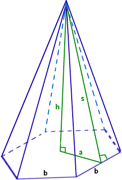 Hexagonal pyramid Pyramid Formula Formula for Pyramid FormulasTutorVistacom