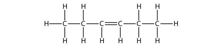 Hexene How many CC bonds are there in Hexene What is the structural